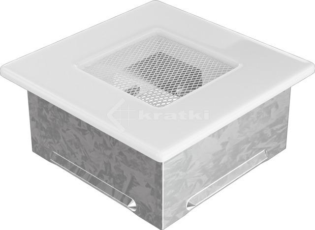 Решітка для каміну Kratki 11x11 біла. Фото 2