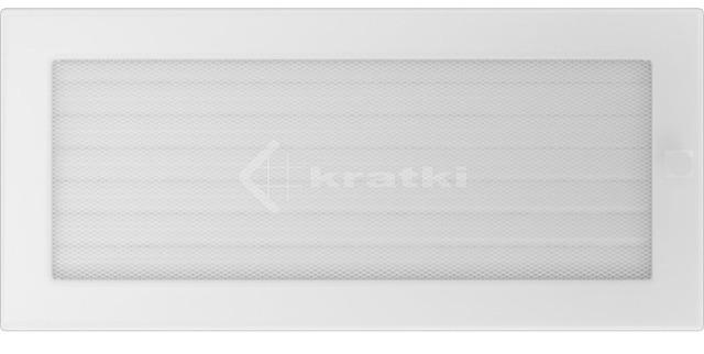 Решетка для камина Kratki 17х37 белая, с жалюзи. Фото 2