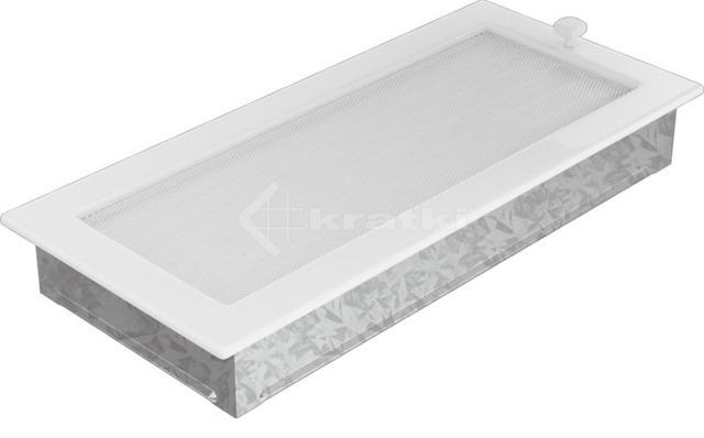 Решетка для камина Kratki 17х37 белая, с жалюзи. Фото 3