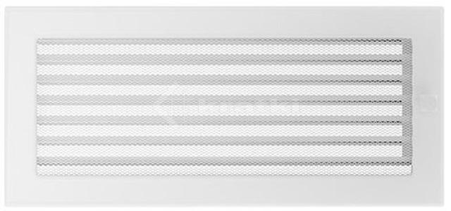 Решетка для камина Kratki 17х37 белая, с жалюзи