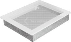 Решітка для каміну Kratki 22х30 біла. Фото 2