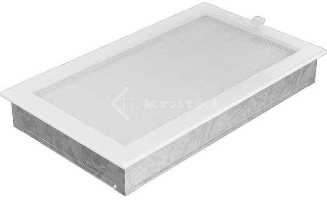 Решітка для каміну Kratki 22х37 біла, з жалюзі. Фото 3