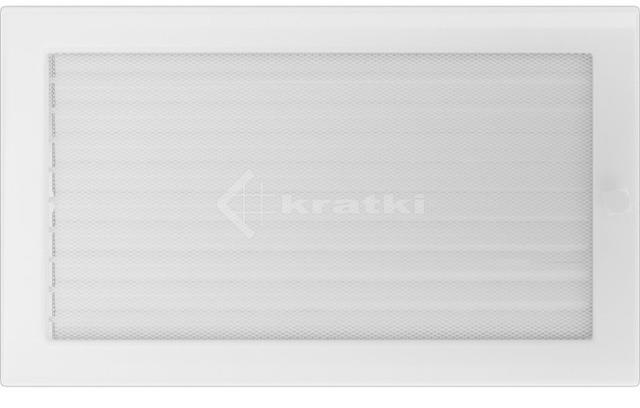 Решітка для каміну Kratki 22х37 біла, з жалюзі. Фото 2