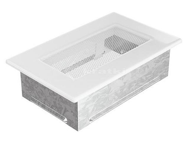 Решетка для камина Kratki 11х17 белая. Фото 2