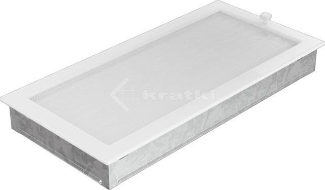 Решітка для каміну Kratki 22х45 біла, з жалюзі. Фото 3