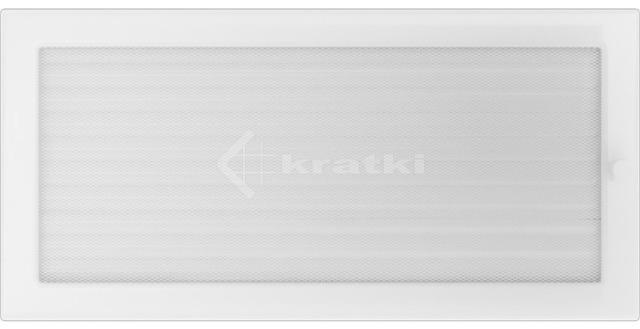 Решітка для каміну Kratki 22х45 біла, з жалюзі. Фото 2