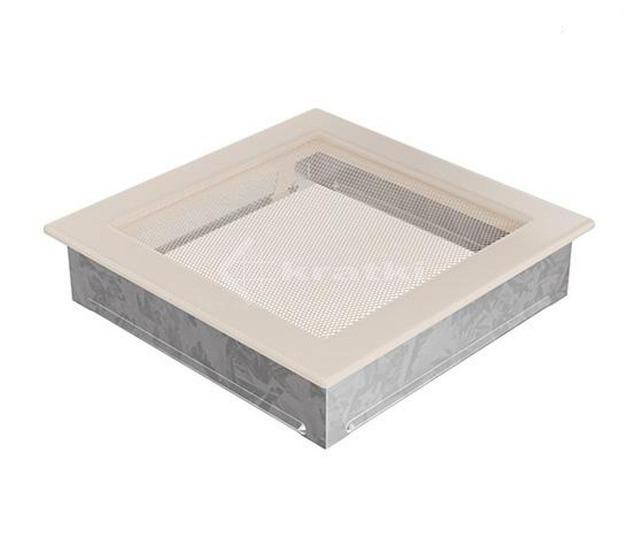 Решетка для камина Kratki 17х17 кремовая. Фото 2