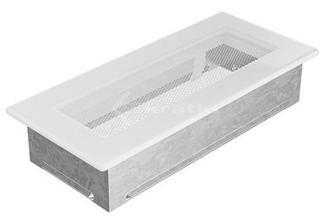 Решетка для камина Kratki 11х24 белая. Фото 2