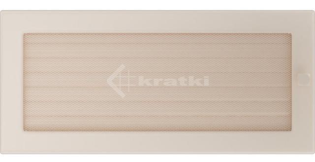 Решетка для камина Kratki 17х37 кремовая, с жалюзи. Фото 2