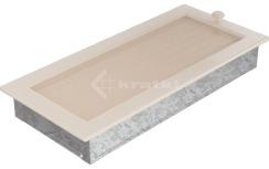 Решетка для камина Kratki 17х37 кремовая, с жалюзи. Фото 3