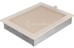 Решетка для камина Kratki 22х30 кремовая, с жалюзи. Фото 3