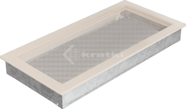 Решетка для камина Kratki 22х45 кремовая. Фото 2