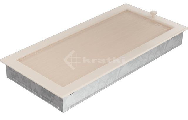 Решетка для камина Kratki 22х45 кремовая, с жалюзи. Фото 3