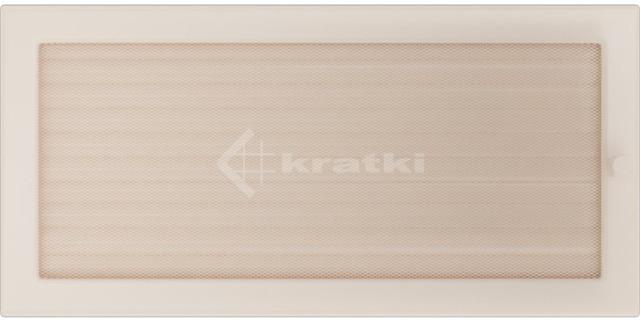 Решетка для камина Kratki 22х45 кремовая, с жалюзи. Фото 2