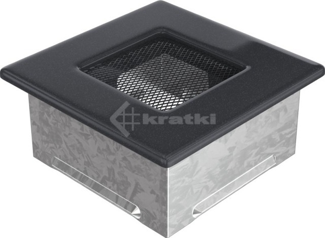 Решетка для камина Kratki 11x11 графитовая. Фото 2