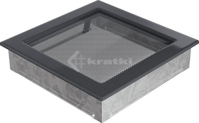 Решетка для камина Kratki 22х22 графитовая. Фото 2