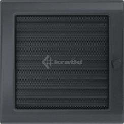 Решетка для камина Kratki 22х22 графитовая, с жалюзи. Фото 2