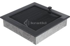 Решетка для камина Kratki 22х22 графитовая, с жалюзи. Фото 3