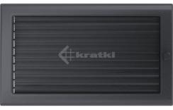 Решетка для камина Kratki 22х37 графитовая, с жалюзи. Фото 2