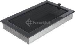 Решетка для камина Kratki 22х37 графитовая, с жалюзи. Фото 3