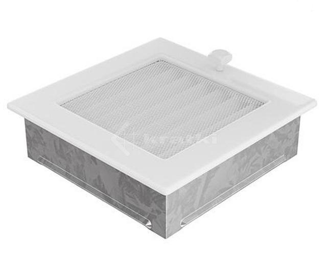 Решітка для каміну Kratki 17х17 біла, з жалюзі. Фото 3