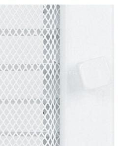 Решітка для каміну Kratki 17х17 біла, з жалюзі. Фото 5