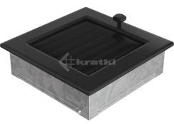 Решітка для каміну Kratki 17х17 чорна, з жалюзі. Фото 3
