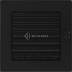 Решітка для каміну Kratki 17х17 чорна, з жалюзі. Фото 2