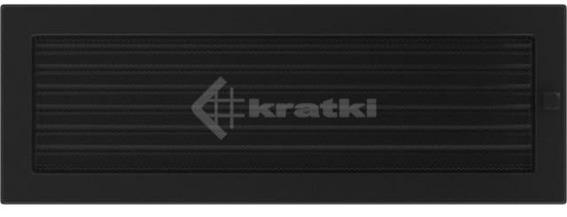 Решетка для камина Kratki 17х49 черная, с жалюзи. Фото 2