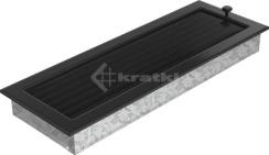 Решетка для камина Kratki 17х49 черная, с жалюзи. Фото 3
