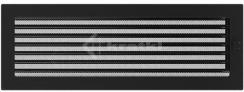Решетка для камина Kratki 17х49 черная, с жалюзи