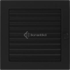Решетка для камина Kratki 22х22 черная, с жалюзи. Фото 2