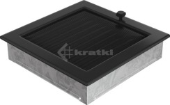Решетка для камина Kratki 22х22 черная, с жалюзи. Фото 3