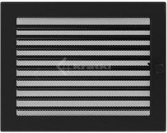 Решетка для камина Kratki 22х30 черная, с жалюзи