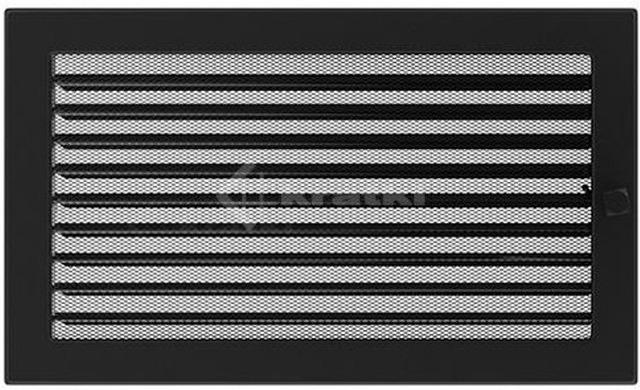 Решетка для камина Kratki 22х37 черная, с жалюзи