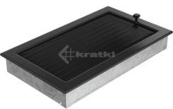 Решетка для камина Kratki 22х37 черная, с жалюзи. Фото 3