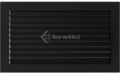 Решетка для камина Kratki 22х37 черная, с жалюзи. Фото 2