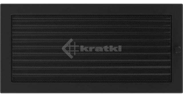 Решетка для камина Kratki 22х45 черная, с жалюзи. Фото 2