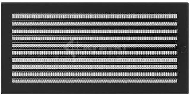 Решетка для камина Kratki 22х45 черная, с жалюзи