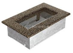 Решетка для камина Kratki 11х17 черно-золотая. Фото 2