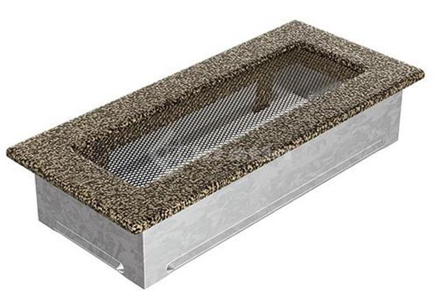 Решетка для камина Kratki 11х24 черно-золотая. Фото 2