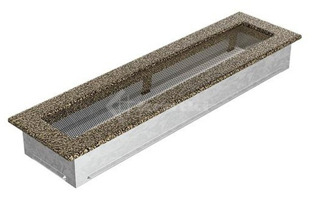 Решетка для камина Kratki 11х42 черно-золотая. Фото 2