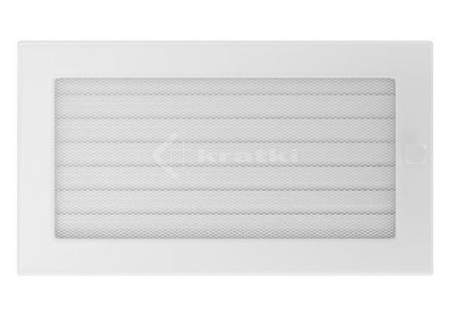 Решетка для камина Kratki 17х30 белая, с жалюзи. Фото 2
