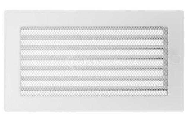 Решетка для камина Kratki 17х30 белая, с жалюзи