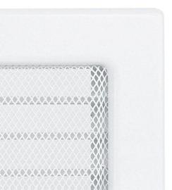 Решетка для камина Kratki 17х30 белая, с жалюзи. Фото 4