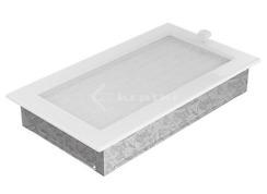 Решетка для камина Kratki 17х30 белая, с жалюзи. Фото 3