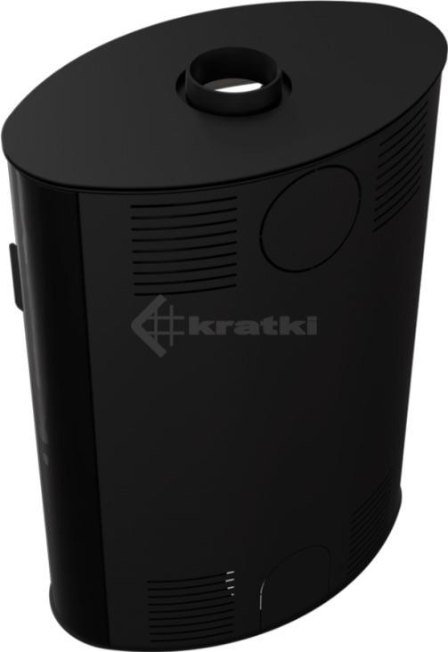 Печь Kratki Koza AB S/2 кафель черный. Фото 4