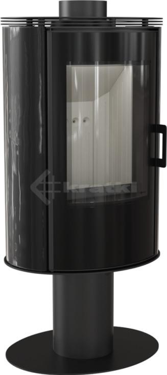 Печь Kratki Koza AB S/N/O/DR Glass кафель черный