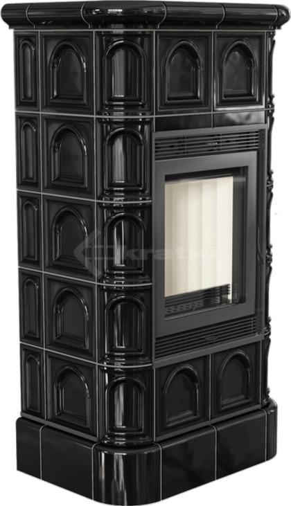 Печь Kratki Blanka 8 кафель черный