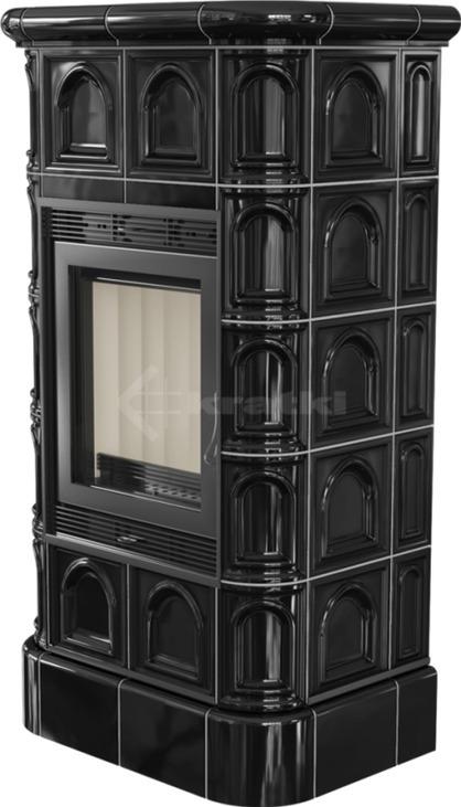 Печь Kratki Blanka 8 кафель черный. Фото 2